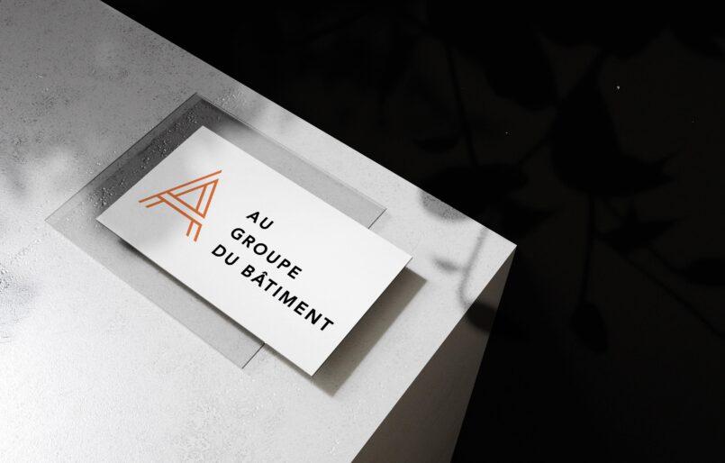 Au Groupe du Batiment Création de logo, Cartes de visite, Webdesign