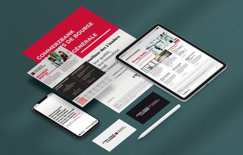 CommerzBank SGCIB Création des communication print et digitales pour le rapprochement entre CommerzBank et Société Générale