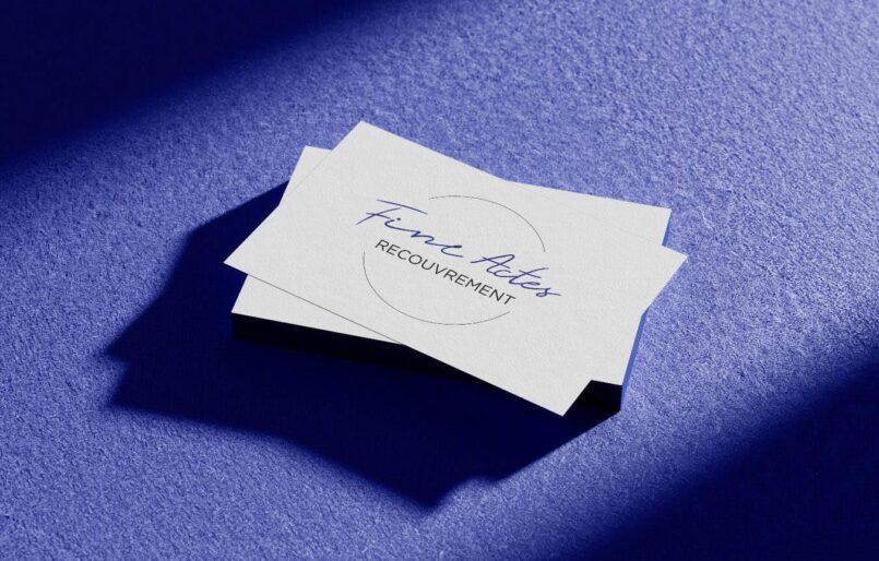 FineActes Recouvrement Création de logo, Carte de visite, Création site web Wordpress