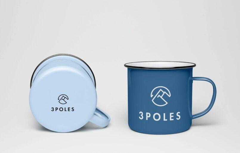 3 Poles Création de l'identité, Logotype, Publicité par l'objet, Création vidéo, Webdesign et développement du site web Wordpress