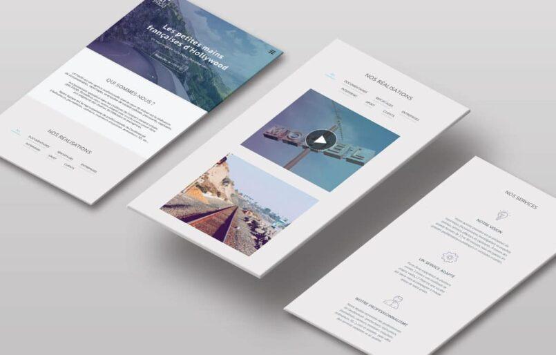 LF Prod Création de l'identité, Logotype, Webdesign et développement du site web Wordpress